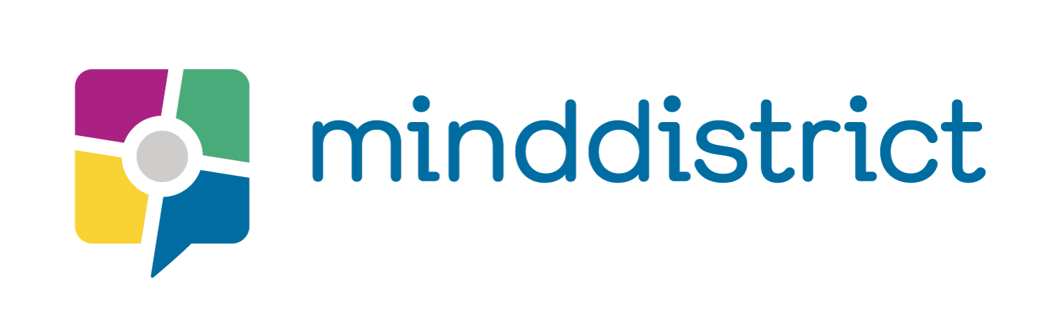 Minddistrict logo in colour, with a transparent background